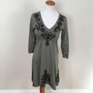 JOHNNY WAS Embroidered Boho Peasant Dress Sz Small
